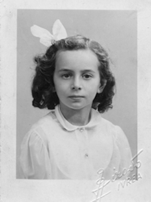 Pierette Simpson as a young girl